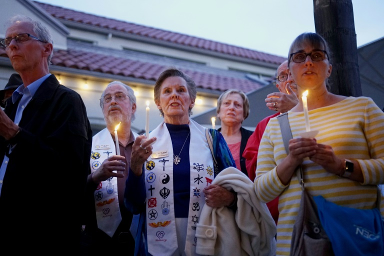 La synagogue de Poway, près de San Diego, en Californie, où un homme a ouvert le feu, faisant un mort et trois blessés, le 27 avril 2019
