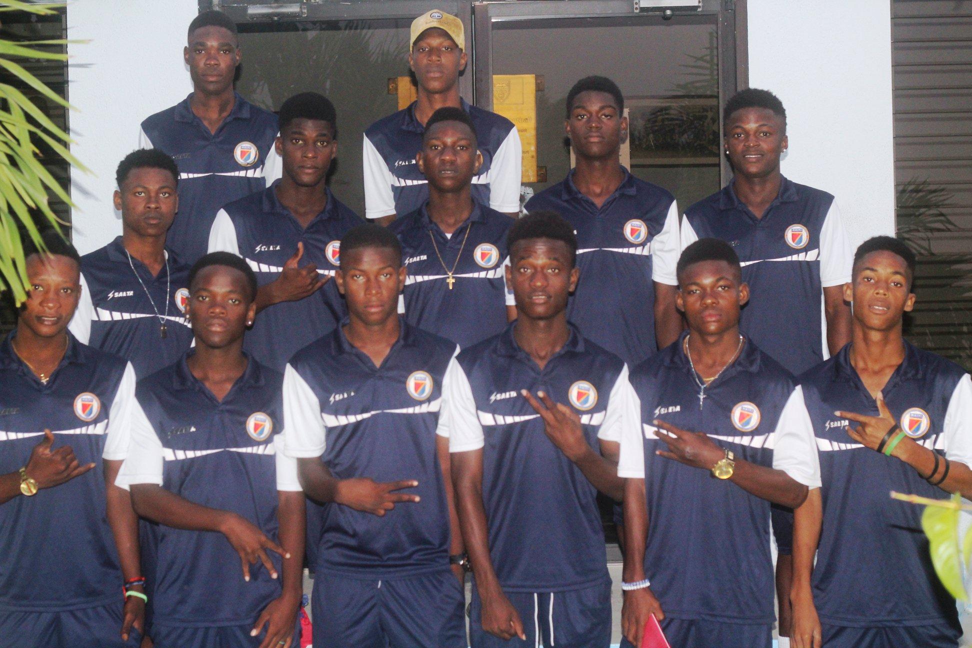 La sélection des moins de 17 ans. Photo: FHF
