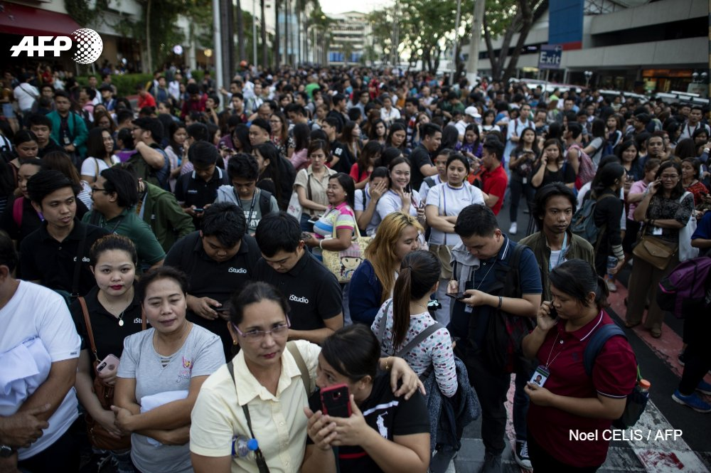 Séisme aux Philippines, au moins cinq morts © AFP / Noel CELIS