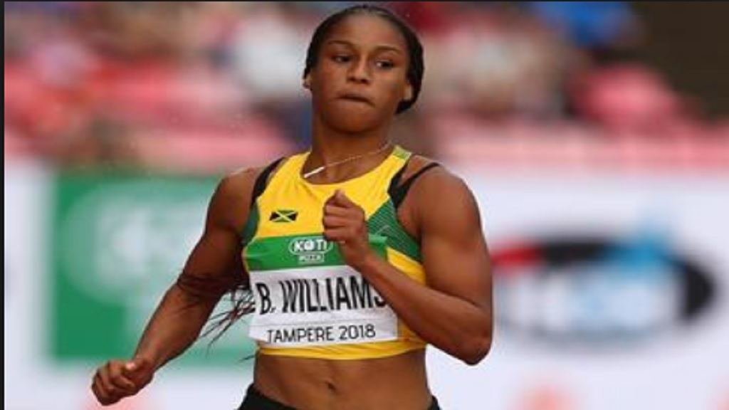 Double World Under-20 sprint champion Briana Williams.