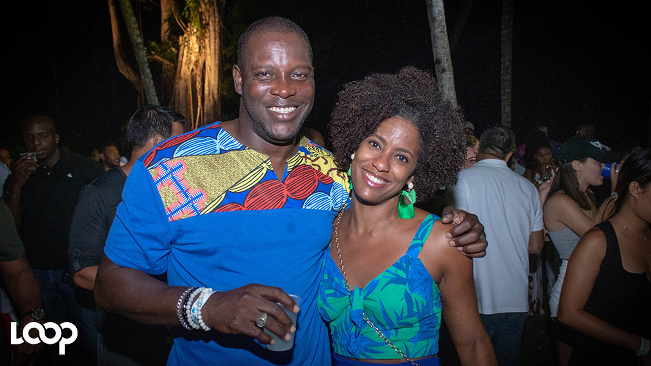 Flow Jamaica Managing Director Stephen Price and wife Imani, the Chief of Staff in the Office of the Leader of the Opposition, were among the patrons at Yush. (PHOTOS: Shawn Barnes)