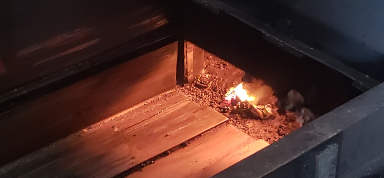 Drugs destroyed in the incinerator