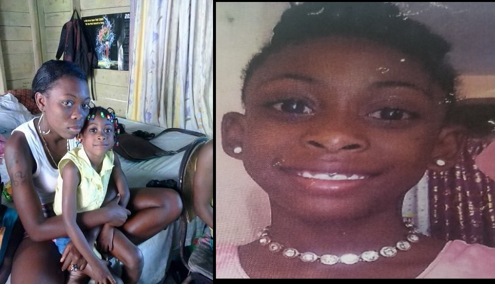 Combination of photos shows Shante and her mother at left; at right, Shante smiles to the camera in happy times.