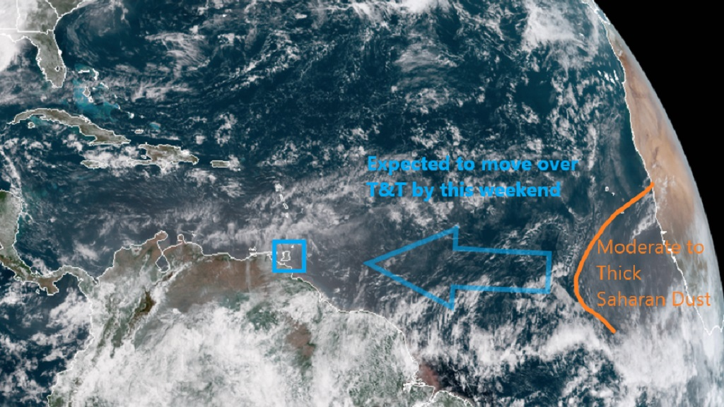 Photo courtesy the Trinidad and Tobago Meteorological Service.