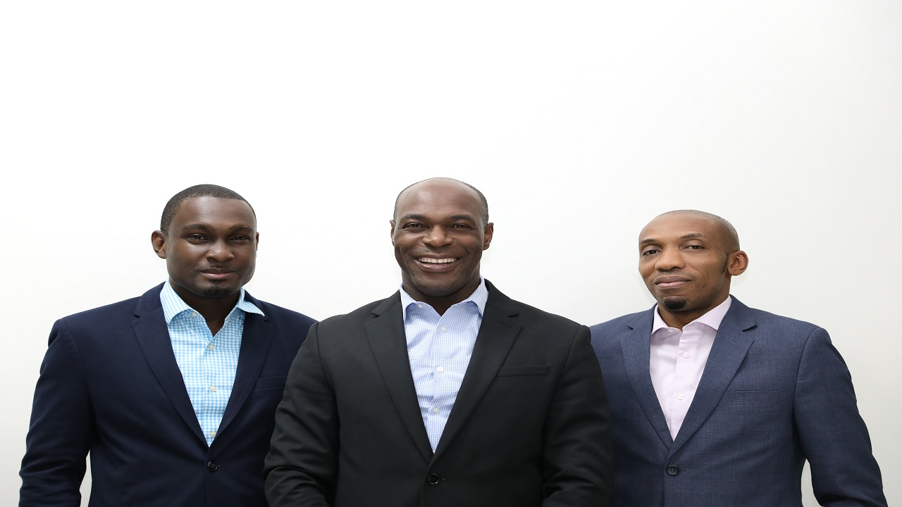 From left to right: Chief Operating Officer Ike Johnson ; CEO Berisford Grey and Jason Morris, Chief Investment Officer of Sygnus.