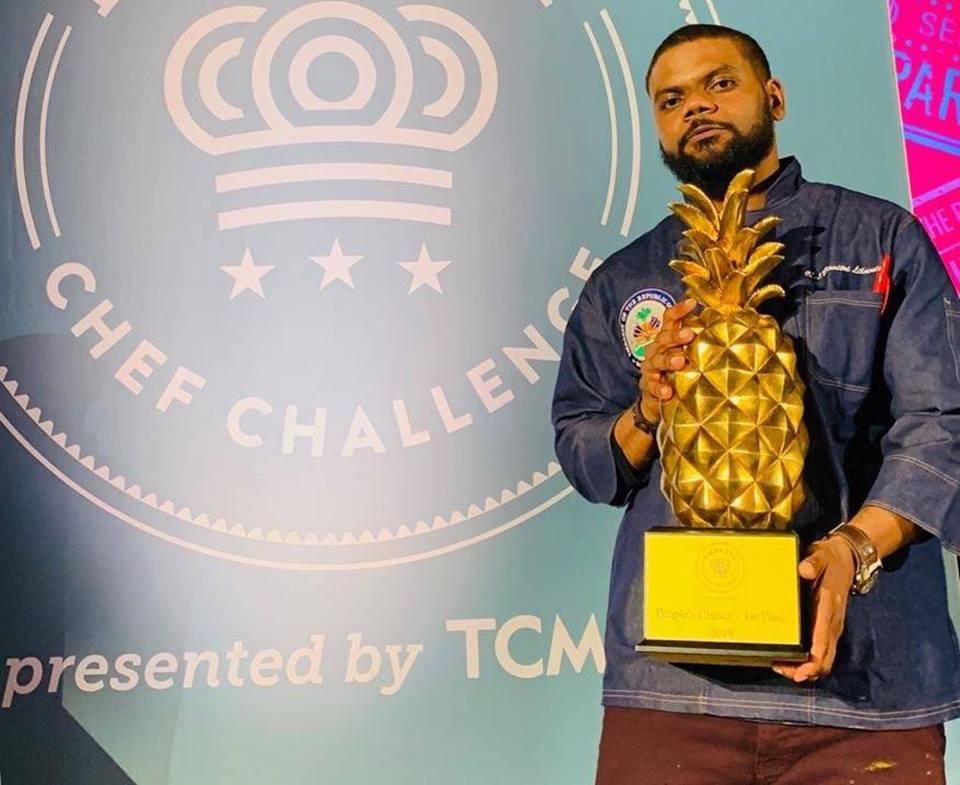 Dimitri Lilavois, représentant de l'Ambassade d'Haiti à Washington et premier gagnant de l'édition 2019 de la compétition Ambassy Chef Challenge./Photo: Twitter Dimitri Lilavois.