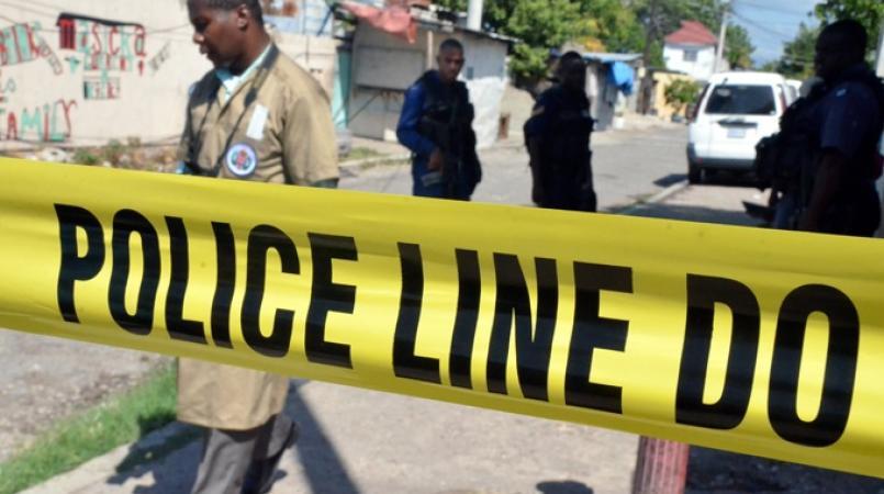 File photo of a crime scene in Jamaica.