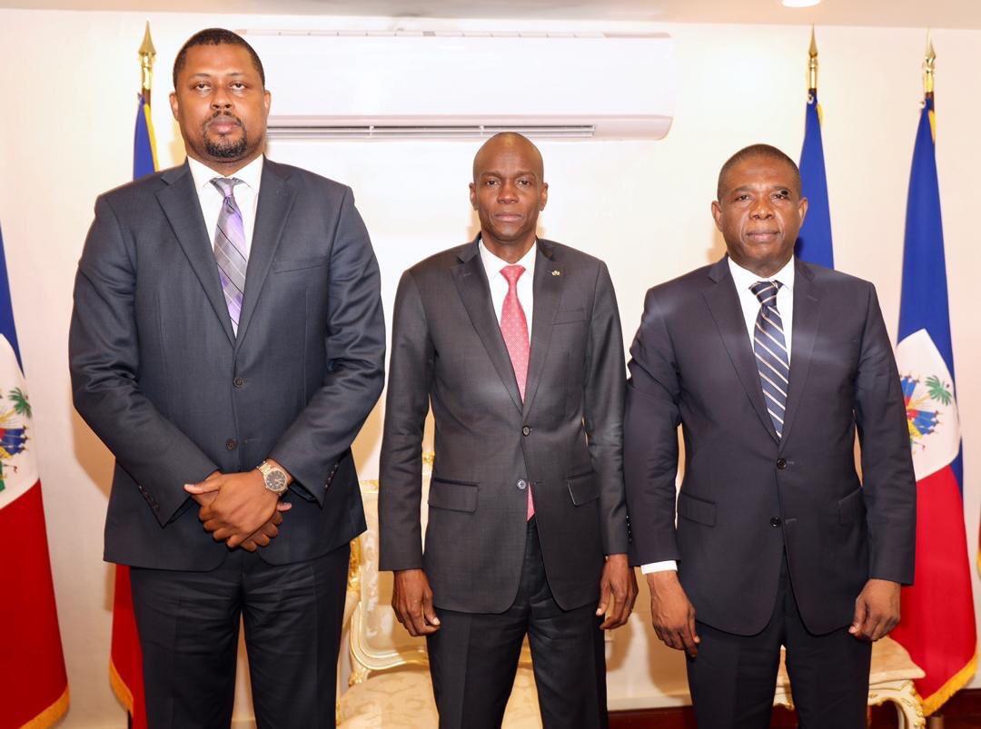 Le président de la République en consultations avec Bodeau et Cantave / Photo : Twitter / Jovenel Moise