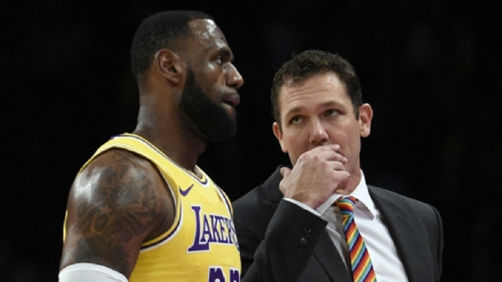 LeBron James and Luke Walton.