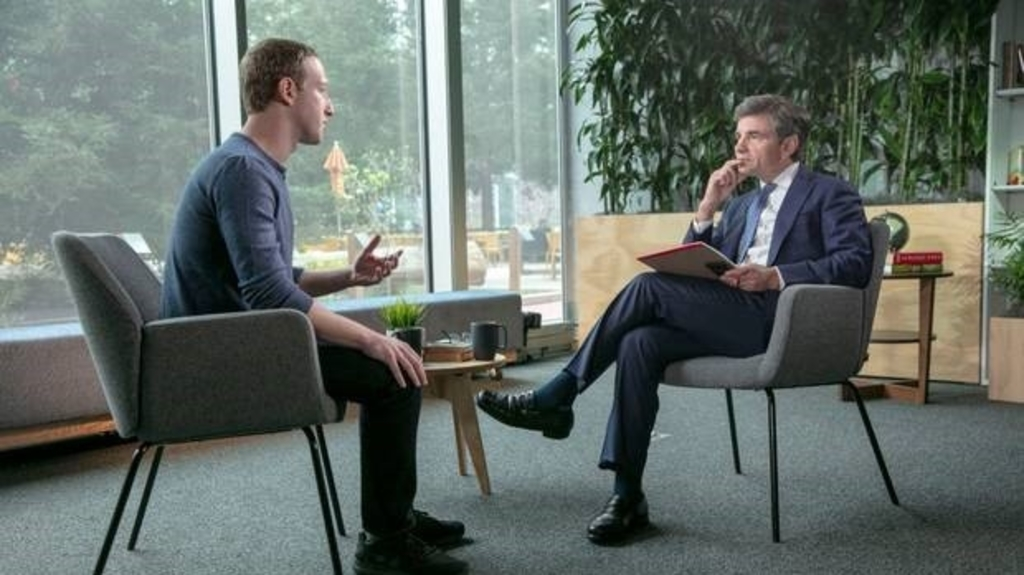 Facebook founder Mark Zuckerberg during his Friday (NZT) interview with ABC News' George Stephanopoulos. Photo / Getty.