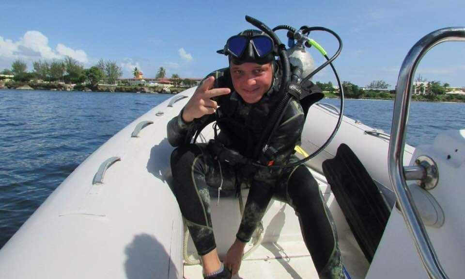 Photo: Christopher Bugros' amazing 44-mile journey after being caught in a current while diving off Trinidad's East Coast on April 10, 2019, has inspired many. Bugros was able to swim to shore on April 11, 25 miles from his original diving location.