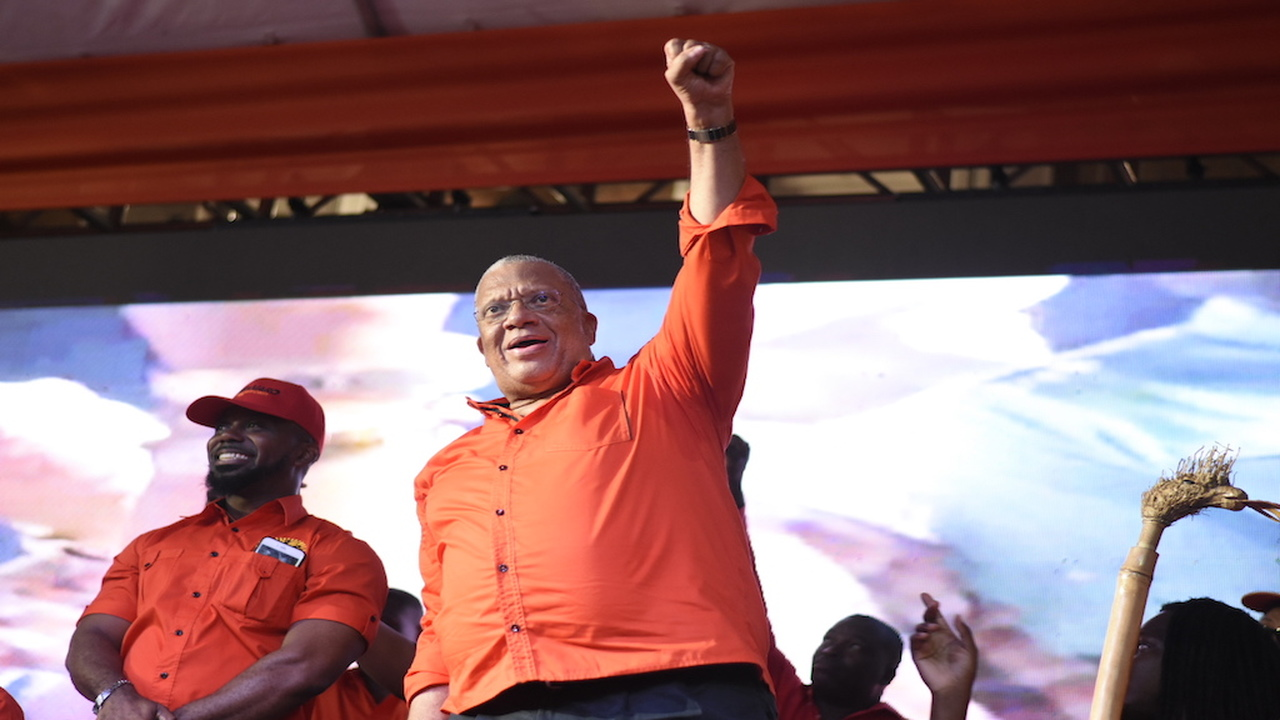 File photo of Opposition Leader Dr Peter Phillips at a PNP rally.