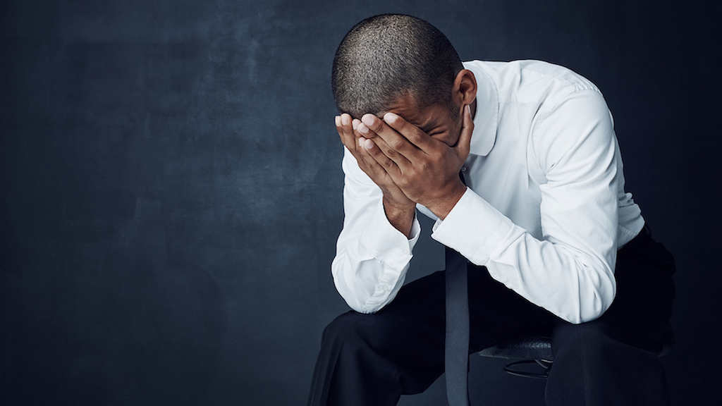 Stock image of a depressed male. (PHOTO: iStock)