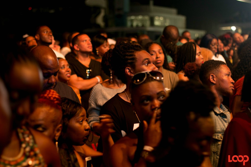 Patrons at Buju Banton's Long Walk to Freedom tour - Barbafos show at Kensington Oval