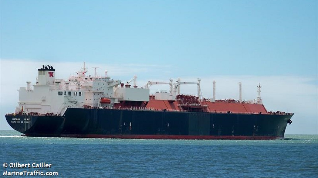 Photo: The 'Hispania Spirit' is a Spanish LNG tanker. The vessel was based at the home port of Santa Cruz de Tenerife. Photo courtesy www.marinetraffic.com