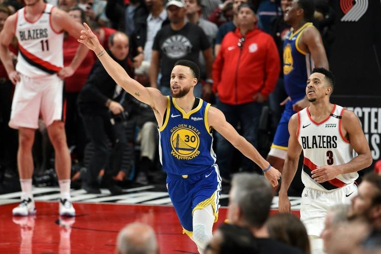 La star des Golden State Warriors Stephen Curry a crucifié Portland sur son parquet dans le match 4 des finales de la conférence Ouest, le 20 mai 2019