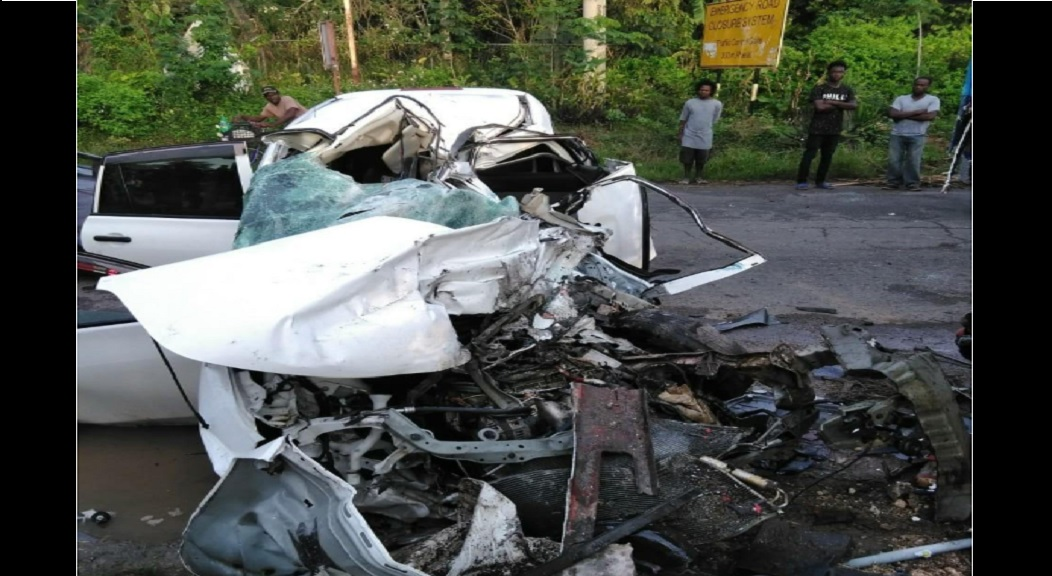 Loop file photo of a crash scene in Dam Head, St Catherine.