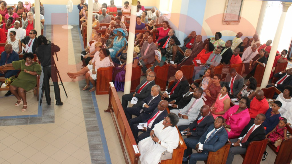 Members of Parliament, the Senate and party supporters were in attendance at the first anniversary church service.