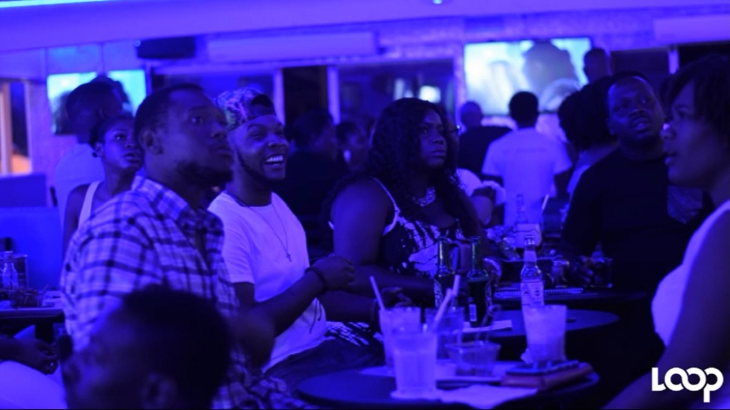 Game of Thrones fans watch the final episode at the Ribbiz Ocean Lounge in Kingston.