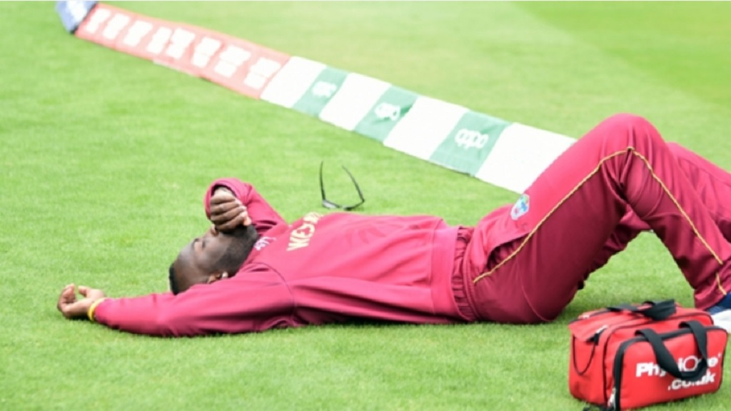 Andre Russell suffered an injury against Pakistan.