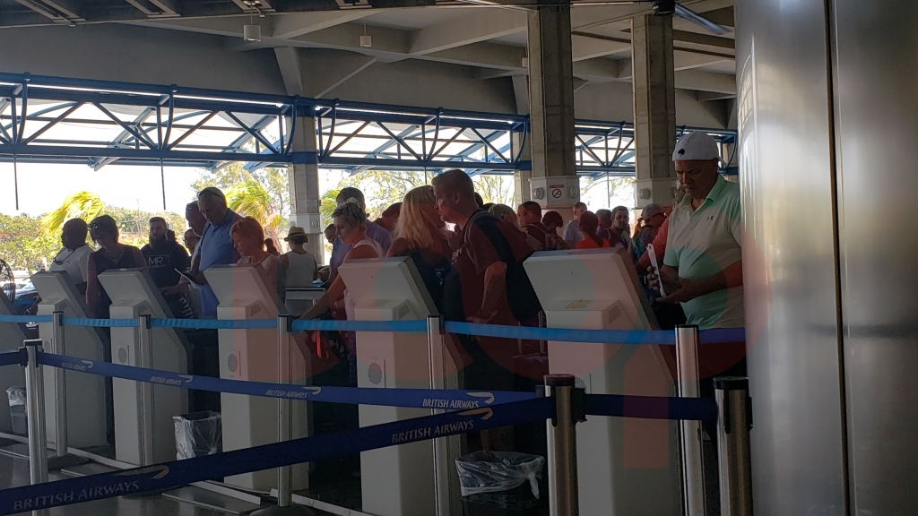 Barbados' Grantley Adams International Airport has kiosks to self-check
