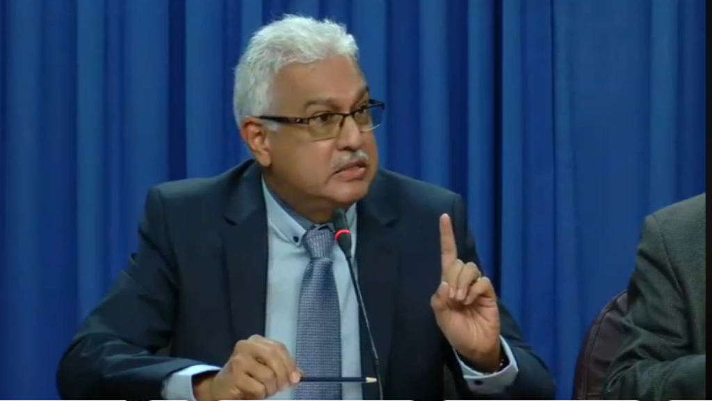 Health Minister Terrence Deyalsingh responds to questions from the media at the Post Cabinet media briefing on February 7, 2019.