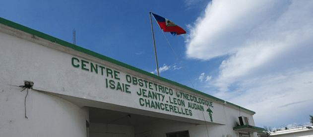 La façade de la Maternité Isaïe Jeanty, située à Chancerelles./Photo: Compte Facebook de l'hôpital.