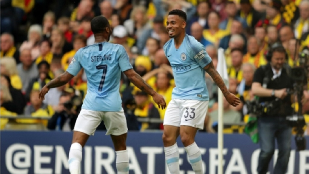 Raheem Sterling and Gabriel Jesus.