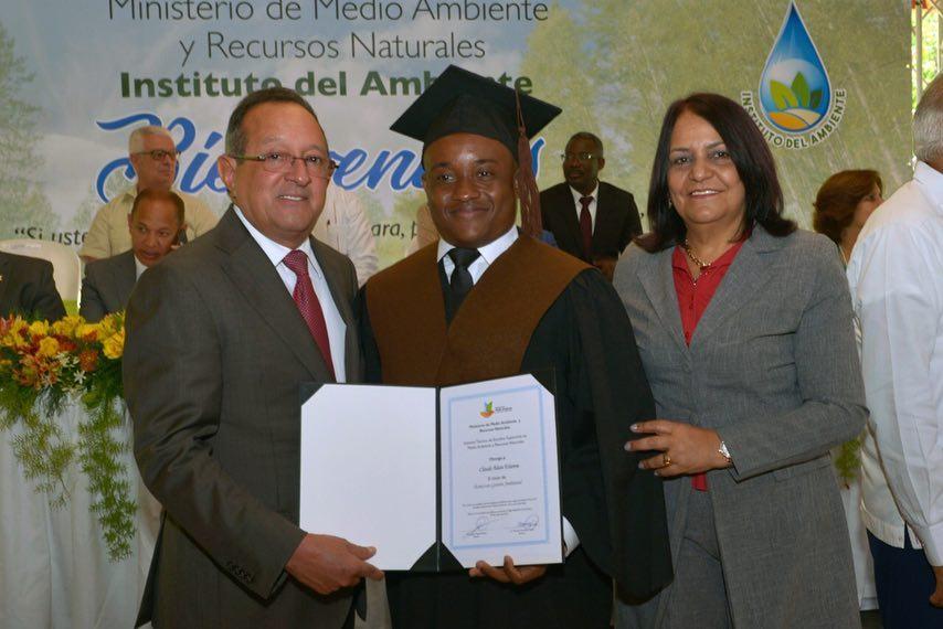 Claude-Alain Etienne, lauréat de la 15e promotion de l'Instituto del Ambiente