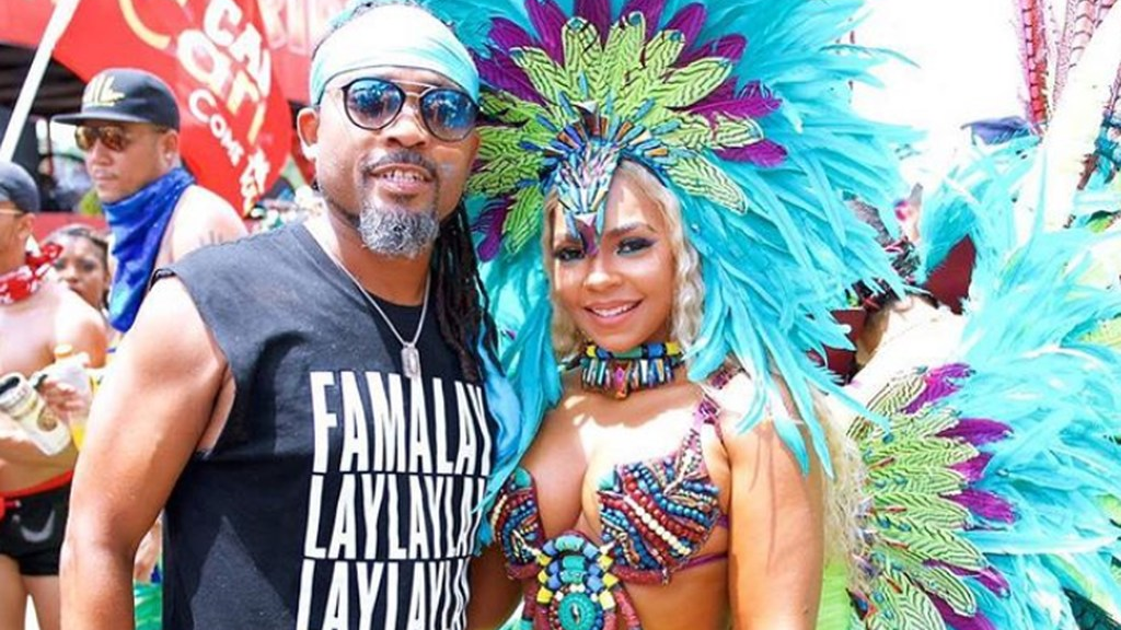 Soca king Machel Montano and Grammy-award winning singer Ashanti during T&T's Carnival parade.