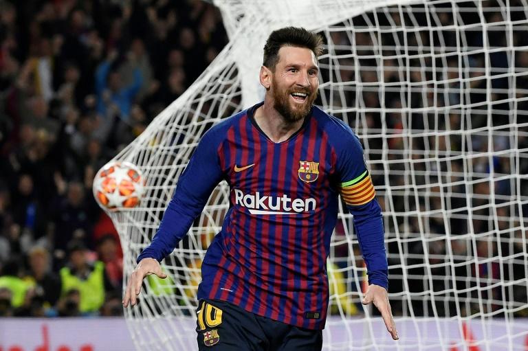 Lionel Messi, capitaine star du FC Barcelone, lors de la demi-finale aller contre Liverpool, le 1er mai 2019 à Barcelo