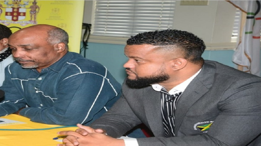 Christopher Samuda (left), president of the Jamaica Olympic Association (JOA) and