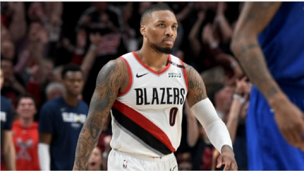 Damian Lillard of the Portland Trail Blazers.