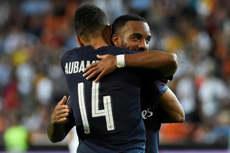 Les buteurs Arsenal après leur qualification de leur équipe en finale de la Ligue Europa