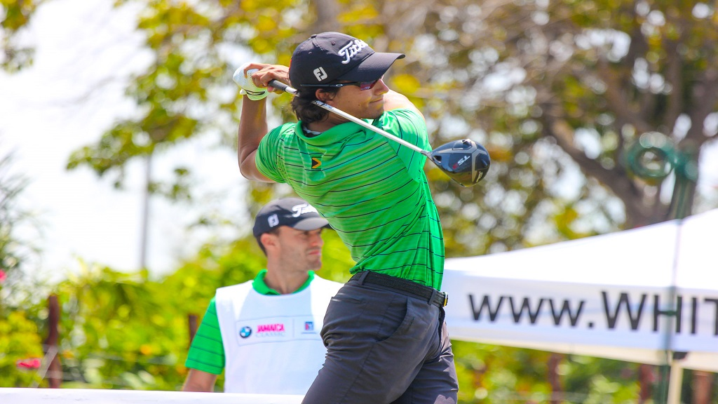 Jamaican Ian Facey in action on the opening day of the BMW Jamaica Classic at the Cinnamon Hill Golf Course in Montego Bay on Thursday, May 16, 2019.