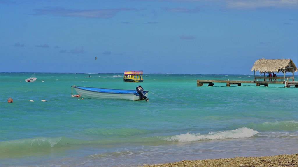 Photo: Pigeon Point Beach, Tobago. Pigeon Point Beach lies a short distance away from No Man's Land and Bon Accord Lagoon, near to the proposed site of the Sandals Tobago project.