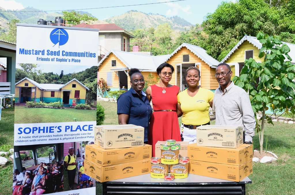 L-R: Christine Madden Watson, Acting Administrator at Sophie's Place; Denise Byfield Dixon, Marketing Manager, Facey Commodity; Simone McFarlane, Business Development Officer, Brunswick; and Robin Clarke, Business Development Manager, Facey Commodity.
