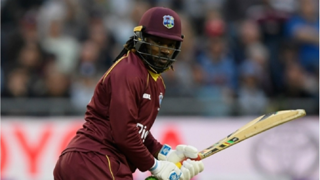 Chris Gayle in action for West Indies.