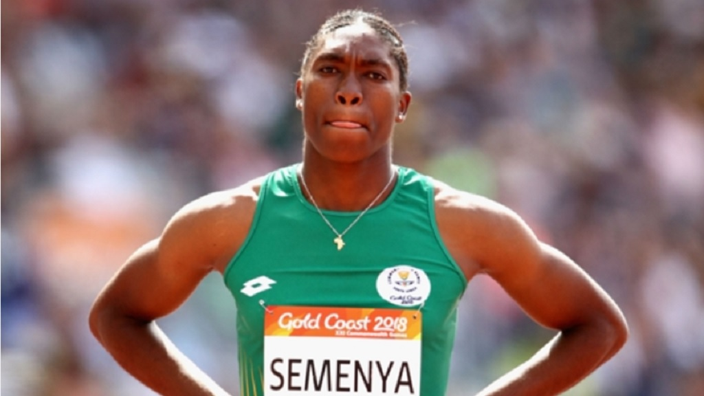 Caster Semenya at the 2018 Commonwealth Games.
