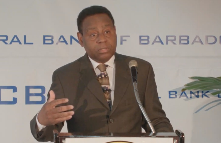 Central Bank Governor Cleviston Haynes
