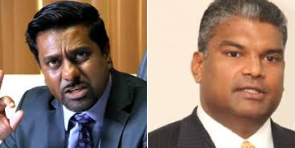 UNC Members: Senator Gerald Ramdeen (left), Former Attorney General Anand Ramlogan (right)
