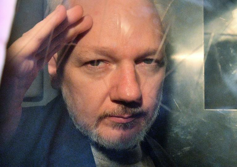 Le fondateur de Wikileaks Julian Assange le 1er mai 2019 à Londres