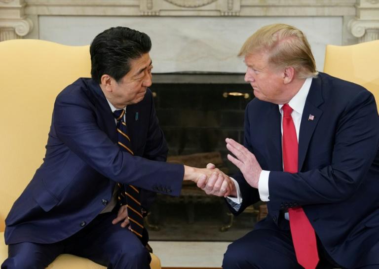 Le président américain Donald Trump et le Premier ministre japonais Shinzo Abe à la Maison Blanche le 26 avril 2019