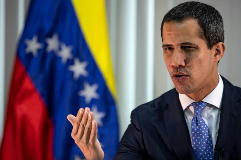 Le leader de l'opposition vénézuelienne Juan Guaido, le 6 mai 2019 à Caracas