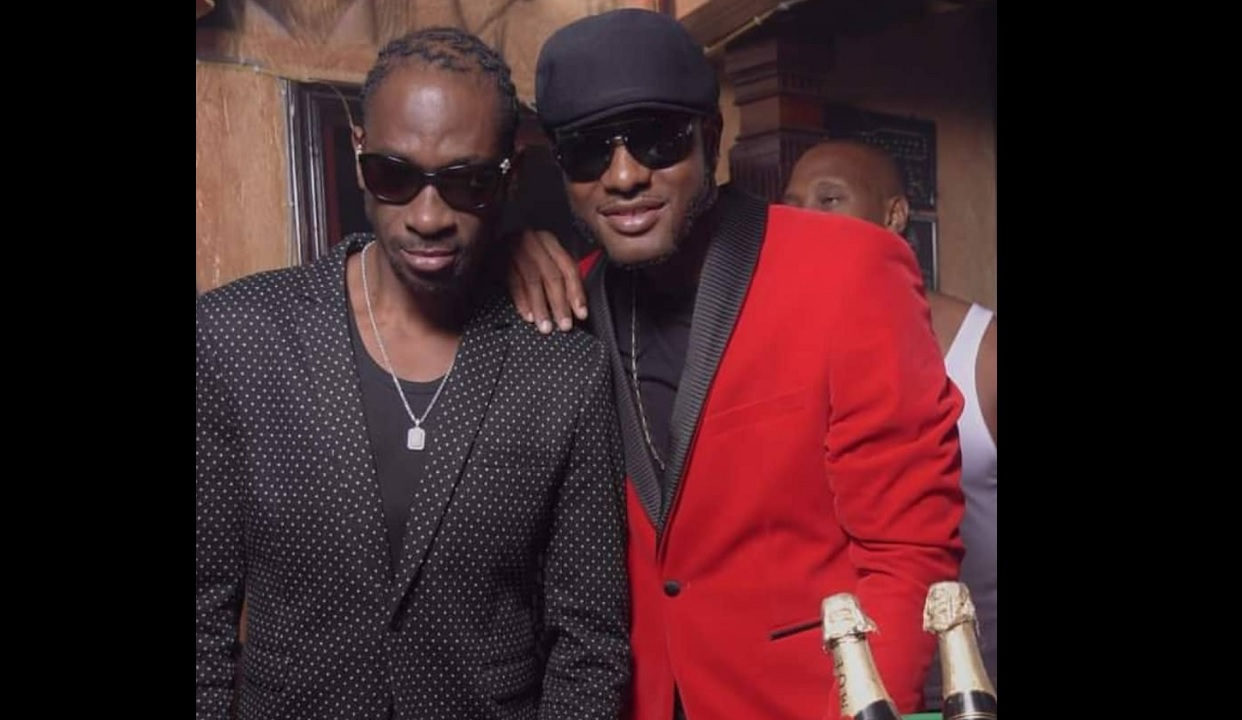 Iyara (right) with his mentor, veteran dancehall act Bounty Killer.