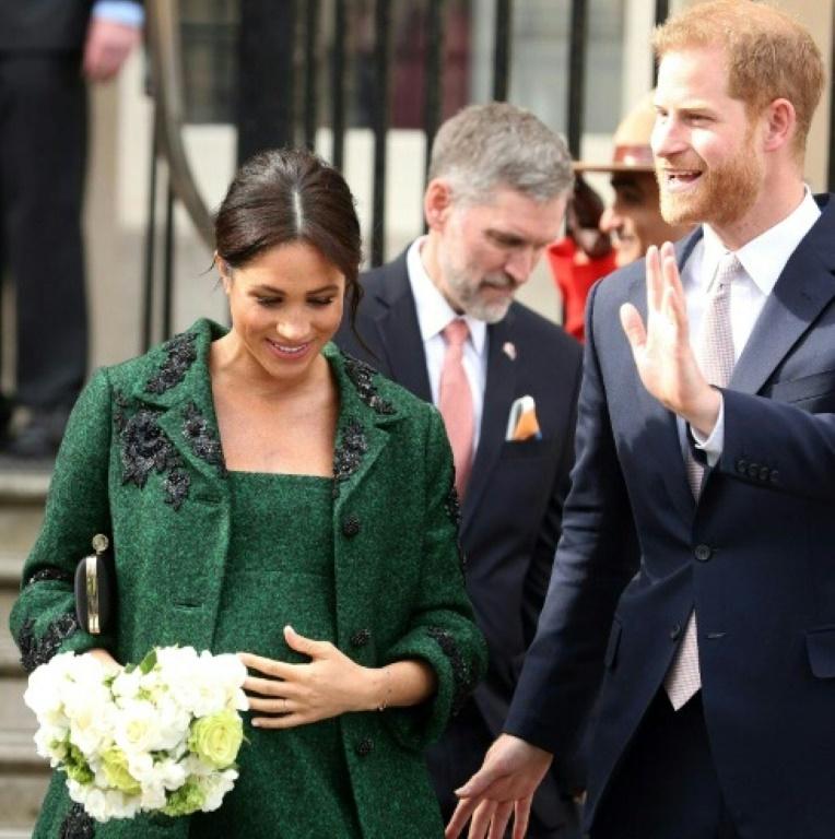 L'épouse du prince Harry, Meghan, auprès de son mari lors d'une célébration pour la Journée du Commonwealth, le 11 mars 019 à Londres