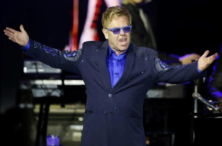 Le chanteur britannique Elton John le 24 janvier 2018 à New York