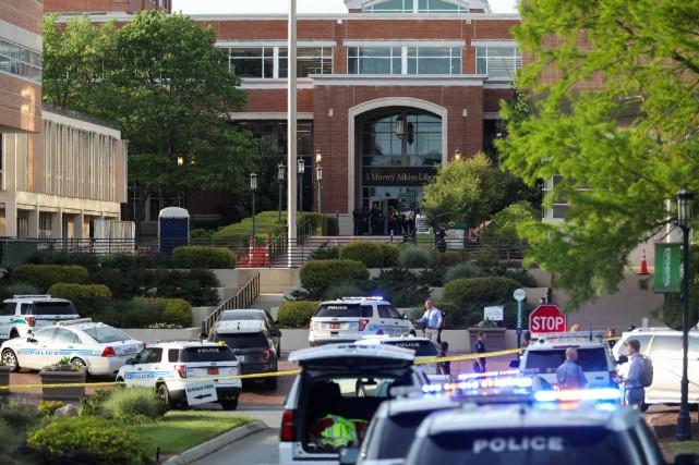 Le campus de l'université de Caroline du Nord a été placé en confinement. PHOTO LOGAN CYRUS, AGENCE FRANCE-PRESSE