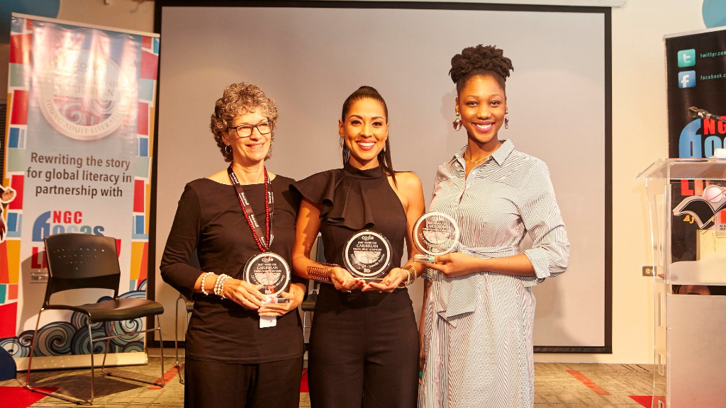 (l-r) Jamaican Diana McCaulay, Trinidadian