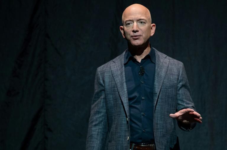 """Jeff Bezos présente son projet """"Blue Moon"""", le 9 mai 2019 à Washington"""